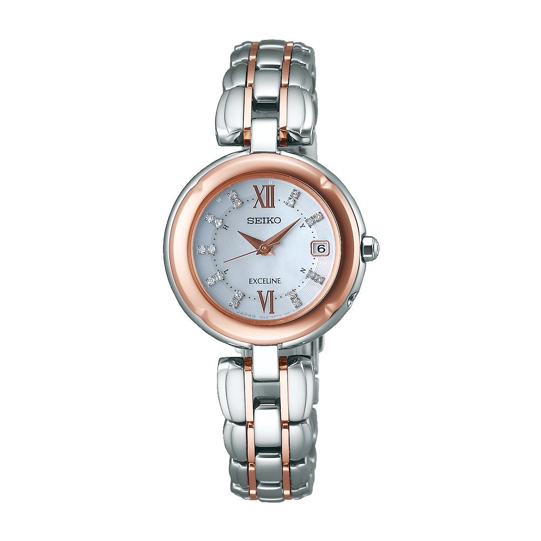 SEIKO EXCELINE Christmas limited 300 pieces SWCW128 solar radio watch diamond