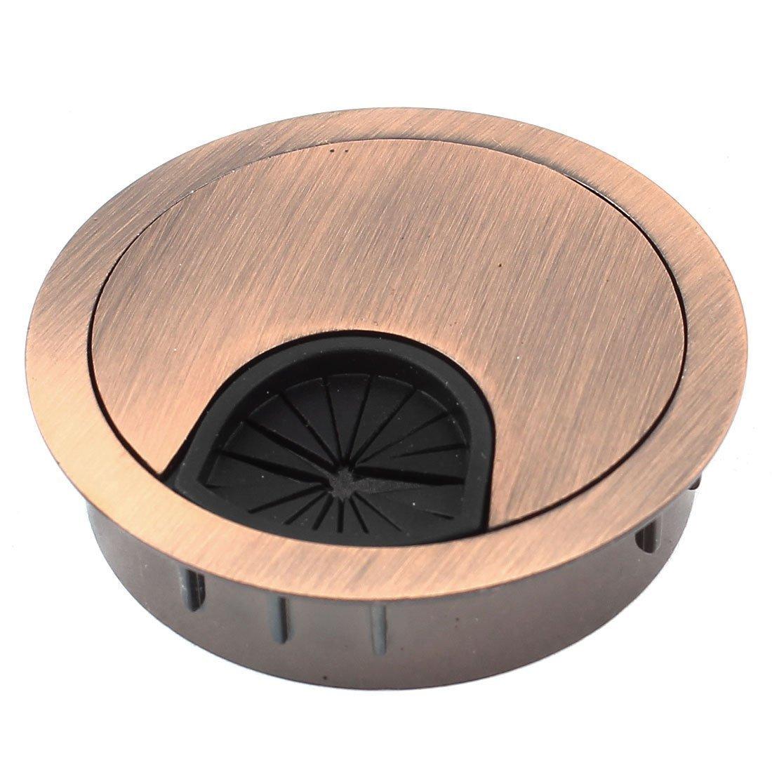 Home Mart Desk Grommet computer desk Cable outlet hole cover Copper 5 cm diameter
