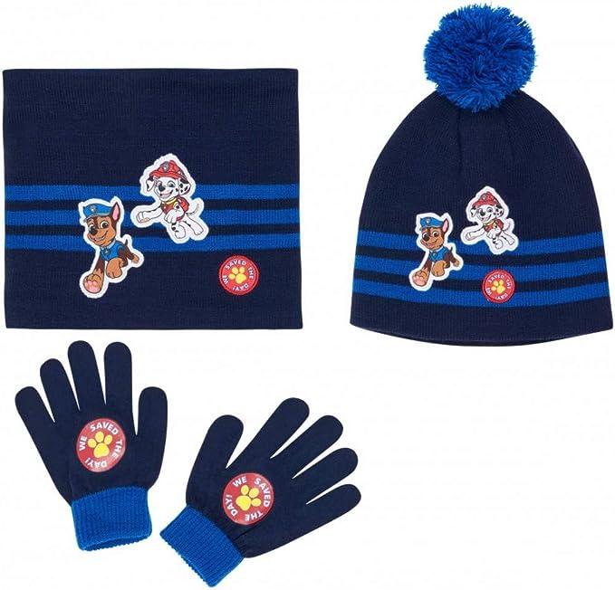 bonnet et moufles b/éb/é//enfant gar/çon 3 coloris de 9mois /à 3ans La Pat Patrouille Echarpe