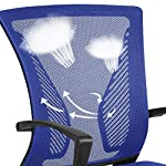 Yaheetech Black Office Chair Adjustable Mesh Chair Ergonomic Computer Chair Comfy Desk Chair Conference Executive…