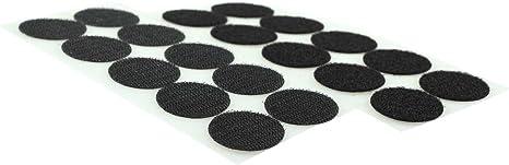10 Paar Klettpunkte Farbwahl Klettband-Punkte Klebepunkte Farbe:schwarz 35mm selbstklebend