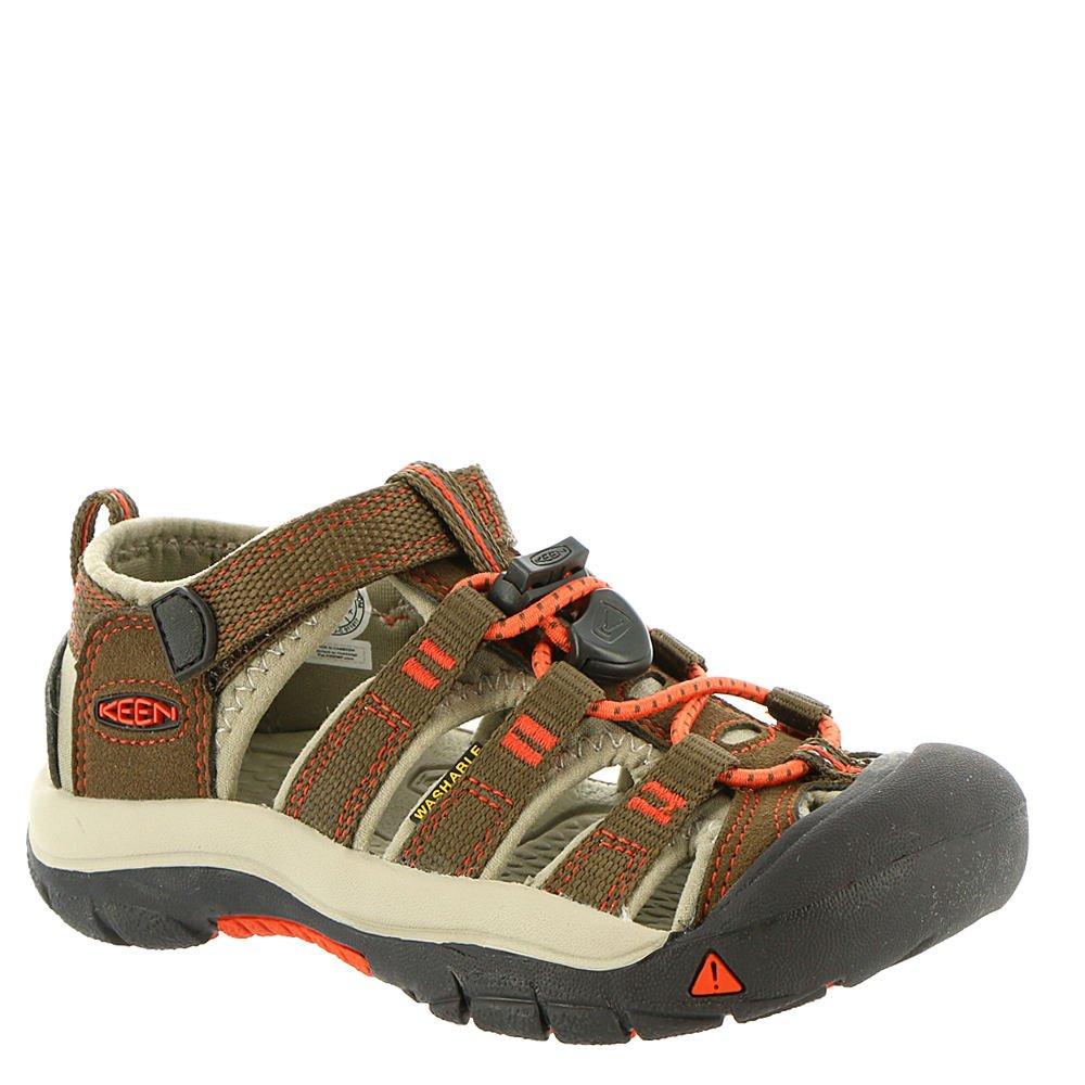 KEEN Little Kid (4-8 Years) Newport H2 Dark Earth/Spicy Orange Sandal - 11 M US Little Kid