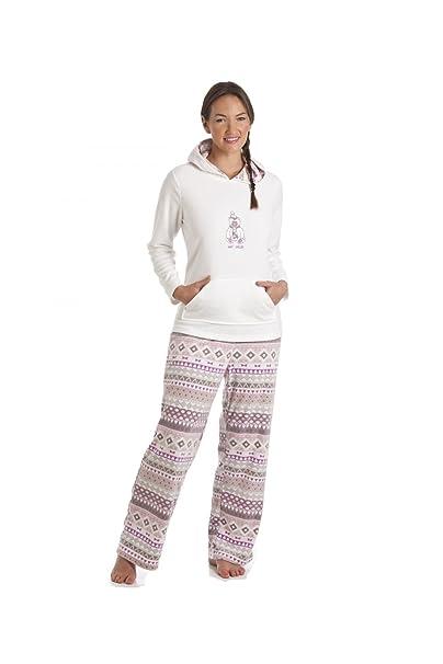Conjunto de pijama con capucha Diseño osito de peluche - Crema 38/40