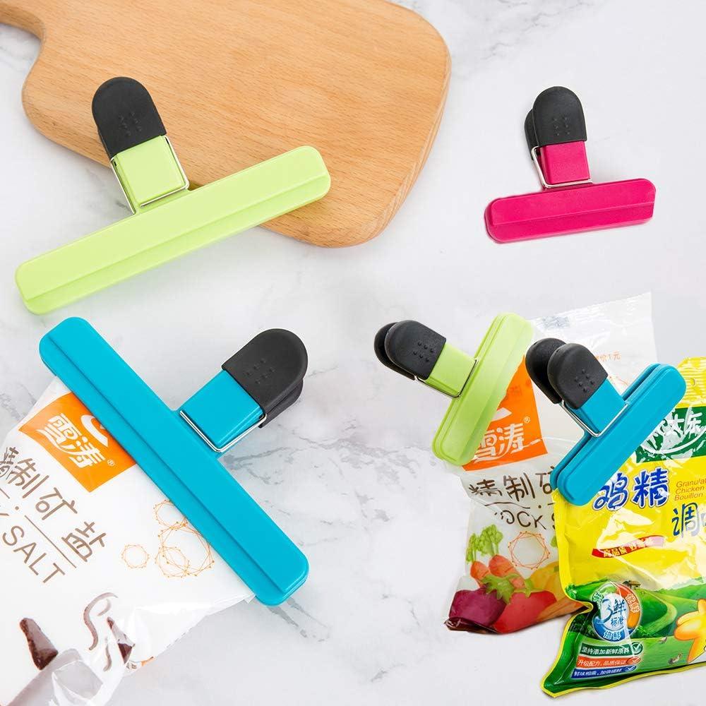 Keyohome Verschlussclips 15 St/ück Verschlussklammern Verpackungsclips Verschlu/ßklemmen Lebensmittelklammern aus Kunststoff Luftdichtungsgriff f/ür Plastikbeutel Lebensmittel und Snacks Lagerung