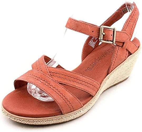 sonriendo Confundir Gimnasio  Timberland Earthkeepers Whittier Womens Red Wide Wedge Sandals Shoes:  Amazon.co.uk: Shoes & Bags