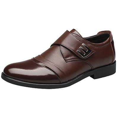 0ee9de45a70 wealsex Mocassins Homme Cuir Derby Scratch Bout Pointu Chaussures de Ville  Affaire Costume Bureau Mariage
