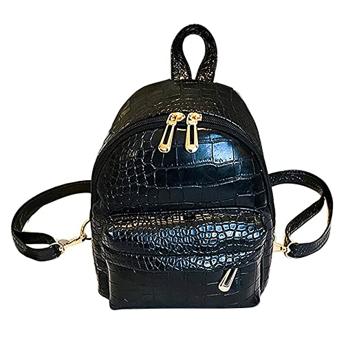 Amazon.com  IAMUP Girl and Boys Bags Women Student Fashion Youth Double  Shoulder Leather Backpack Girls Little School Shoulder Bag Black  Clothing 1e2934fb773be