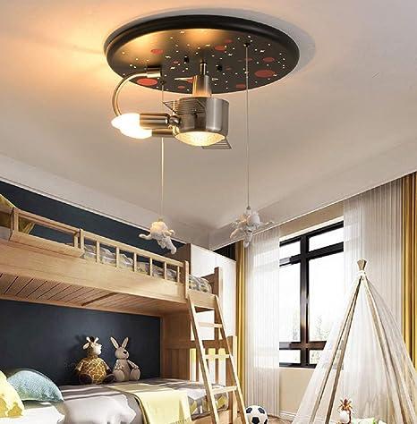Lámpara de techo para dormitorio con forma de astronauta ...