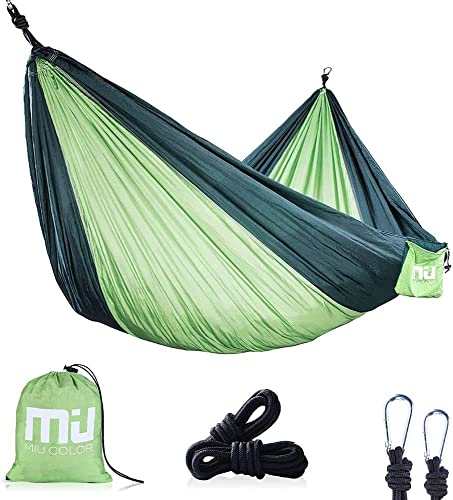 Scotamalone Camping Hammock Outdoor Travel Portable Double Tree Lightweight Adjustable Two Person Hammock