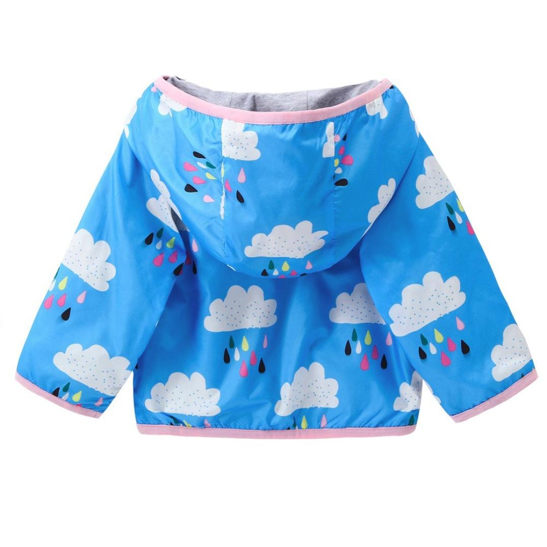 KONFA Teen Baby Boys Girls Rain Cloud Print Hooded Coat,Suitable For 0-5 Years Old,Fashion Jackets Sunscreen Cloak Tops