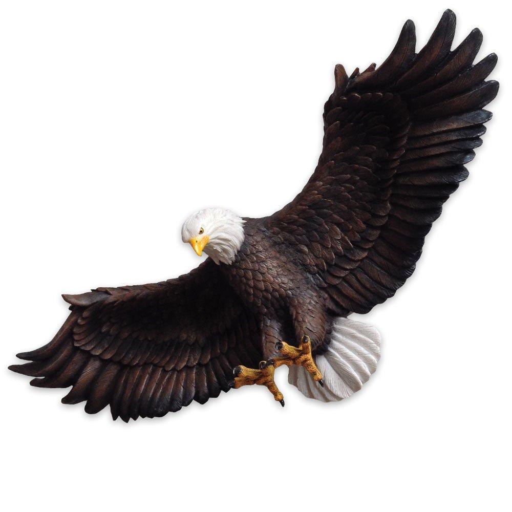 アメリカの国鳥 白頭鷲(イーグル)壁装飾 彫像 置物 彫刻/ Decorative Eagle Figurine Collectible Wall Decor Figurine in Nature Statues & Sculptures (並行輸入品 B00RM8JHRU