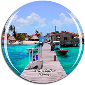Weekino Belize San Pedro Fridge Magnet 3D Crystal Glass Tourist City Travel Souvenir Collection Gift Strong Refrigerator Sticker