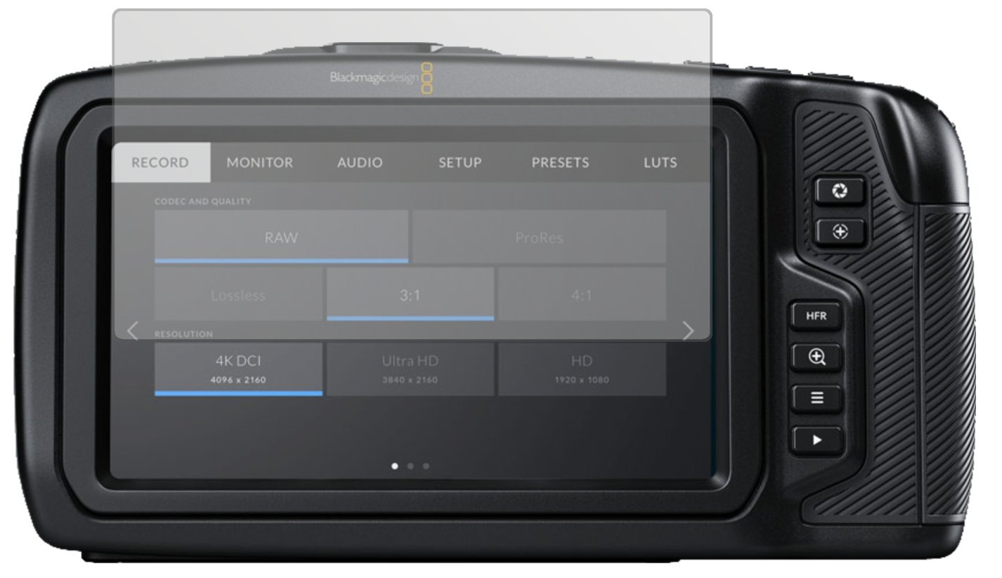 6x Protector Pantalla Blackmagic Production Camera 4K Pelicula Protectora