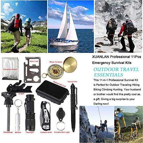 Outdoor-Survival-kits-10-in-1-Multi-Purpose-Emergency-Survival-tools-with-Waterproof-Bag-For-Disaster-Preparedness-Outdoor-Travel-Hiking-Camping-Biking-Climbing-Hunting-by-XUANLAN