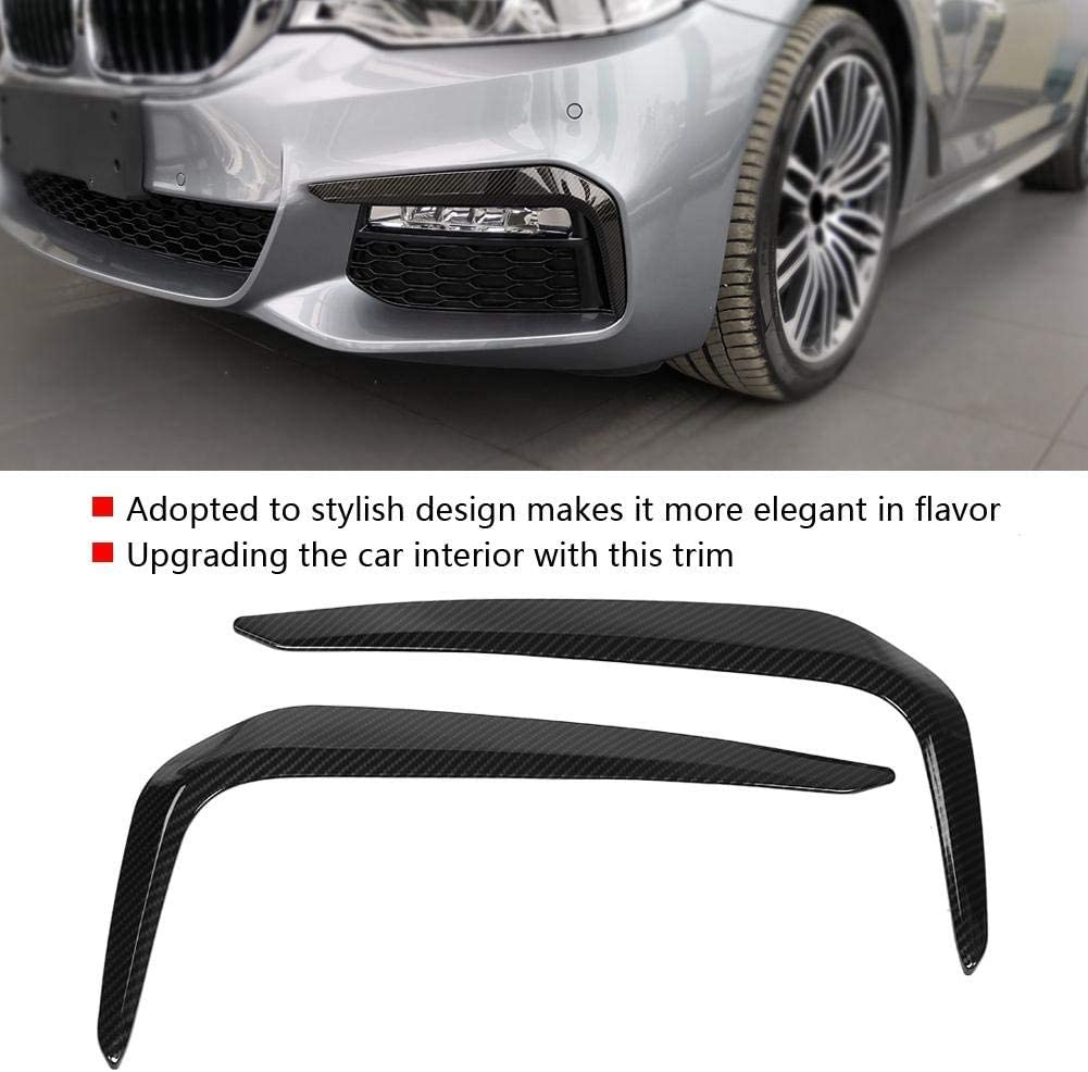 Carbon Fiber Style Foglight Protective Cover Stickers EBTOOLS 2PCS Car Front Foglight Eyebrow Cover Trim Fit for 5 Series M Sport G30 17-18