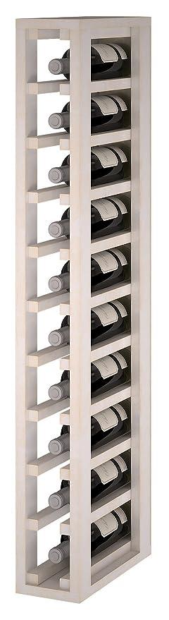 Expovinalia Ew2031 Botellero Especial Modulo Para 10 Botellas Madera Blanco 12x32x105 Cm