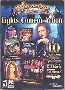 Amazing Hidden Objects Games Lights, Camera, Action PC DVD-Rom 10 Great Games