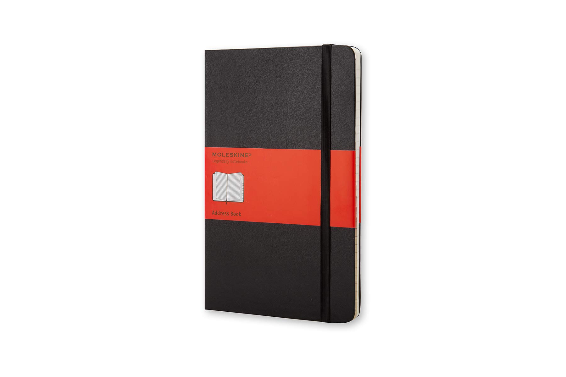 Moleskine PRO Address Book, Hard Cover, Large (5'' x 8.25'') Address Book, Black by Moleskine
