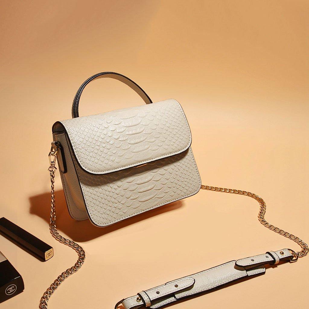 PU Shopping Bag Handbag Shoulder Bag Ladies Bag Lxf20 Womens Handbag Messenger Bag Color : White