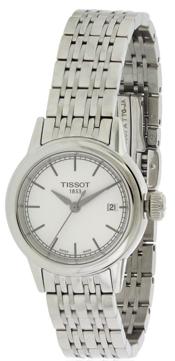 Tissot Women's Carson White Dials Stainless Steel Watch T0852101101100