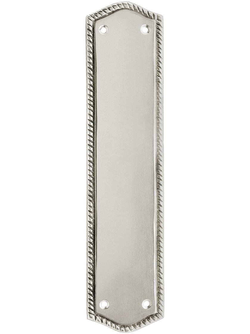 10 1/2'' Rope Push Plate in Polished Nickel