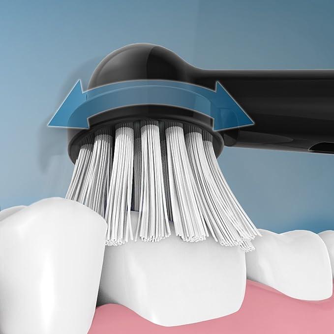 Cepillo de dientes eléctrico Fairywill con base de carga, cepillo de dientes recargable giratorio con 2 cabezas de repuesto para adultos, familia, ...
