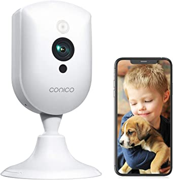 Baby Monitor, Conico 1080P Home Security Indoor Camera with Sound Motion Detection IR Night Vision, Pet Camera with 2- Way Audio 8X Zoom, WiFi Camera Cloud Service Compatible with Alexa