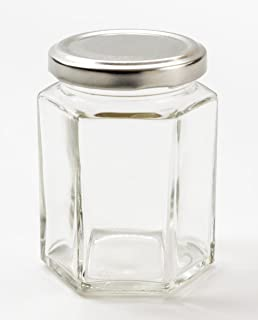 Nutley S 8 Oz Hexagonal Jam Jars With Silver Lids And H1 Retro