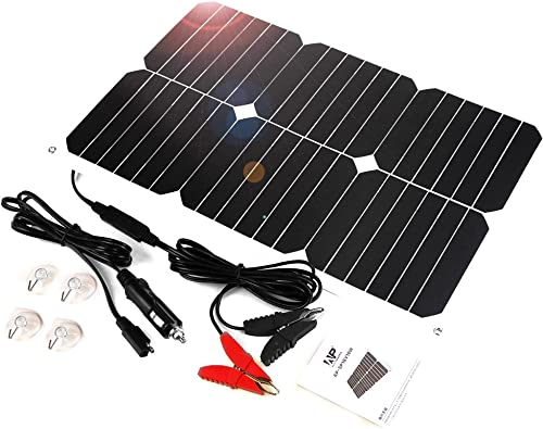 ALLPOWERS 18V 18W Solar Panel Trickle Battery Maintainer