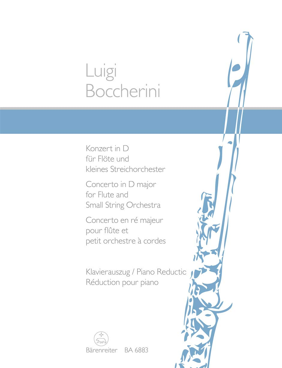 "Konzert fr Fl""te und Streicher - Concerto for Flute and Strings - op.27 / D-Dur/D major/R' majeur (Allemand) Partition Luigi Rodolfo Boccherini Baerenreiter Verlag B0000VDJDE Geisteswissenschaften"