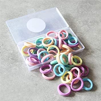 Pack of 24 Thin Mini Coloured Hair Elastics Bobbles Hair Bands Choice of Colours