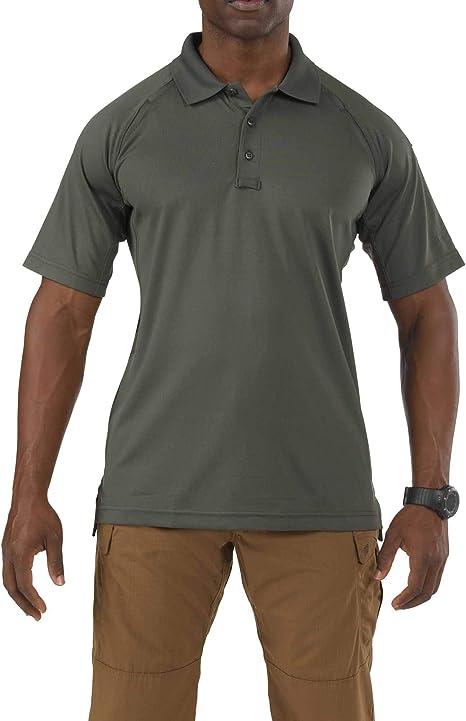 5.11 Tactical Performance Camisa polo de manga corta para hombre, poliéster que absorbe la humedad, estilo 71049: Amazon.es: Ropa y accesorios