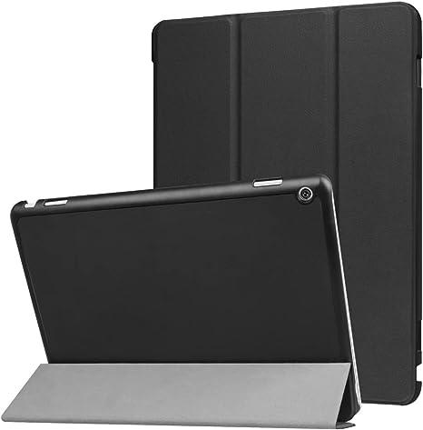 Imagen deHuawei MediaPad M3 Lite 10.0 Funda y # xFF0 C; Xinda Ultra Slim Tri-fold Funda de piel con soporte para Huawei MediaPad M3 Lite 10.0 Tablet (función de encendido/apagado)