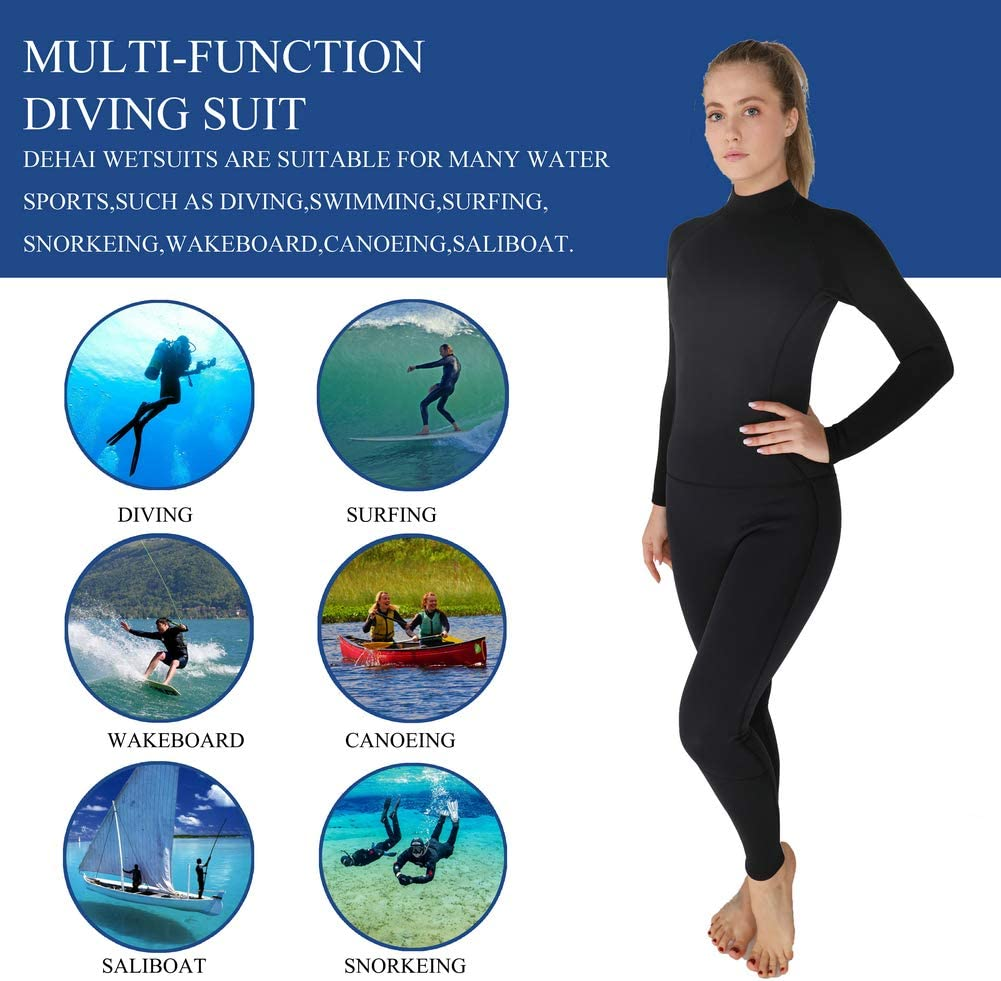 Fine Womens Thermal Wetsuits Full Suit Sleeves 3mm Neoprene Youth Adults Diving Swimming Snorkeling Surfing Scuba Jumpsuit Warm Swimwear