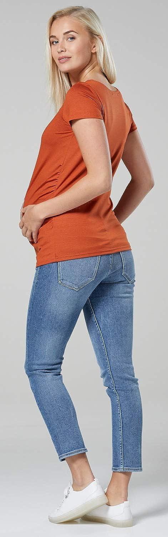 Happy Mama Womens Maternity Baby in Pocket Print T-Shirt Top Tee Shirt 501p