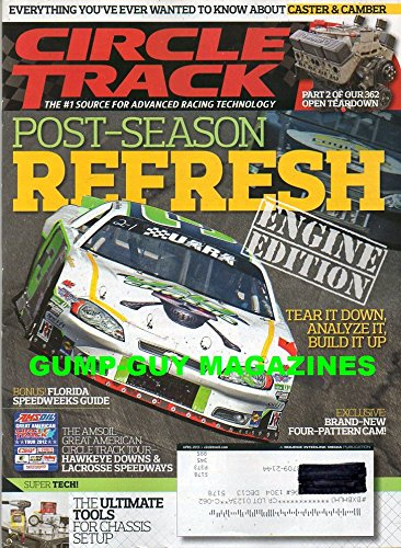Circle Track Advanced Racing Technology April 2013 Magazine POST-SEASON REFRESH ENGINE EDITION, TEAR IT DOWN, ANALYZE IT, BUILD IT UP Amsoil Great American Tour, Hawkeye Downs & Lacrosse Speedway ()