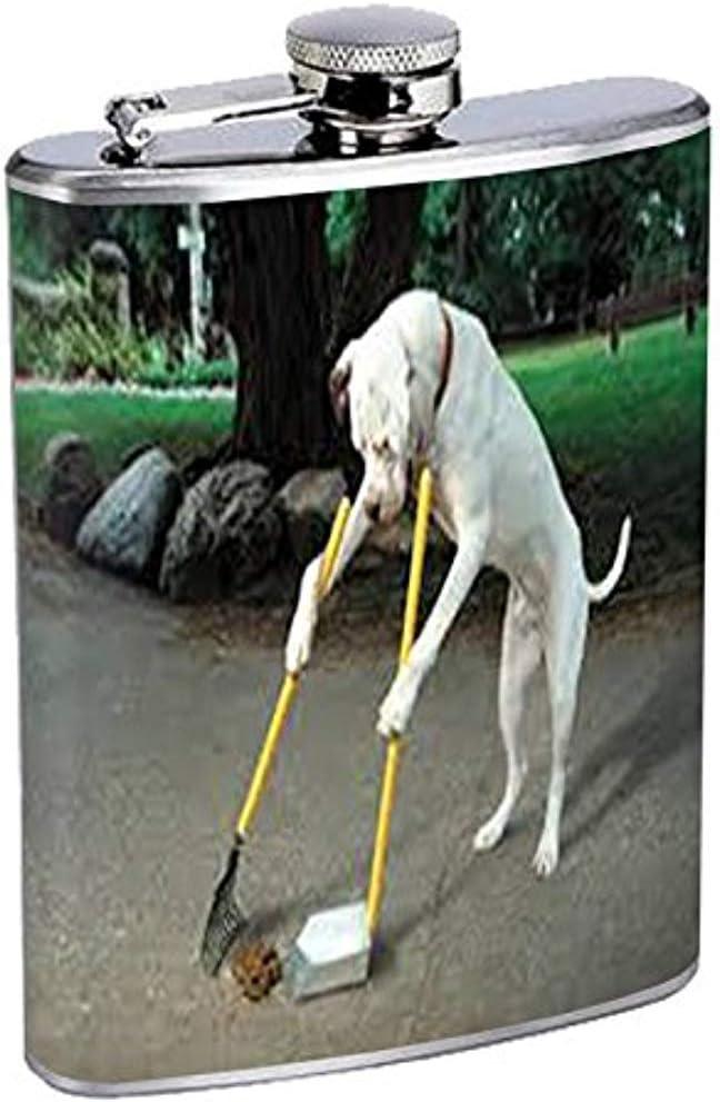 Frasco divertido lindo perro cachorro S6 acero inoxidable ...
