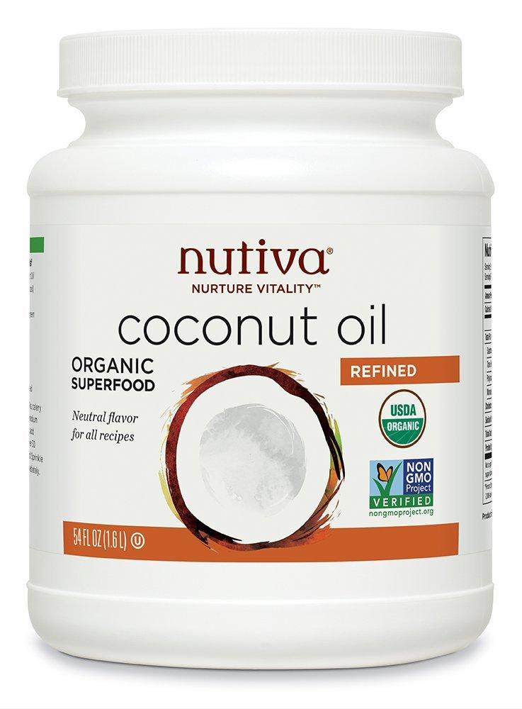 Nutiva Organic Coconut Oil, Refined, 54 Ounce