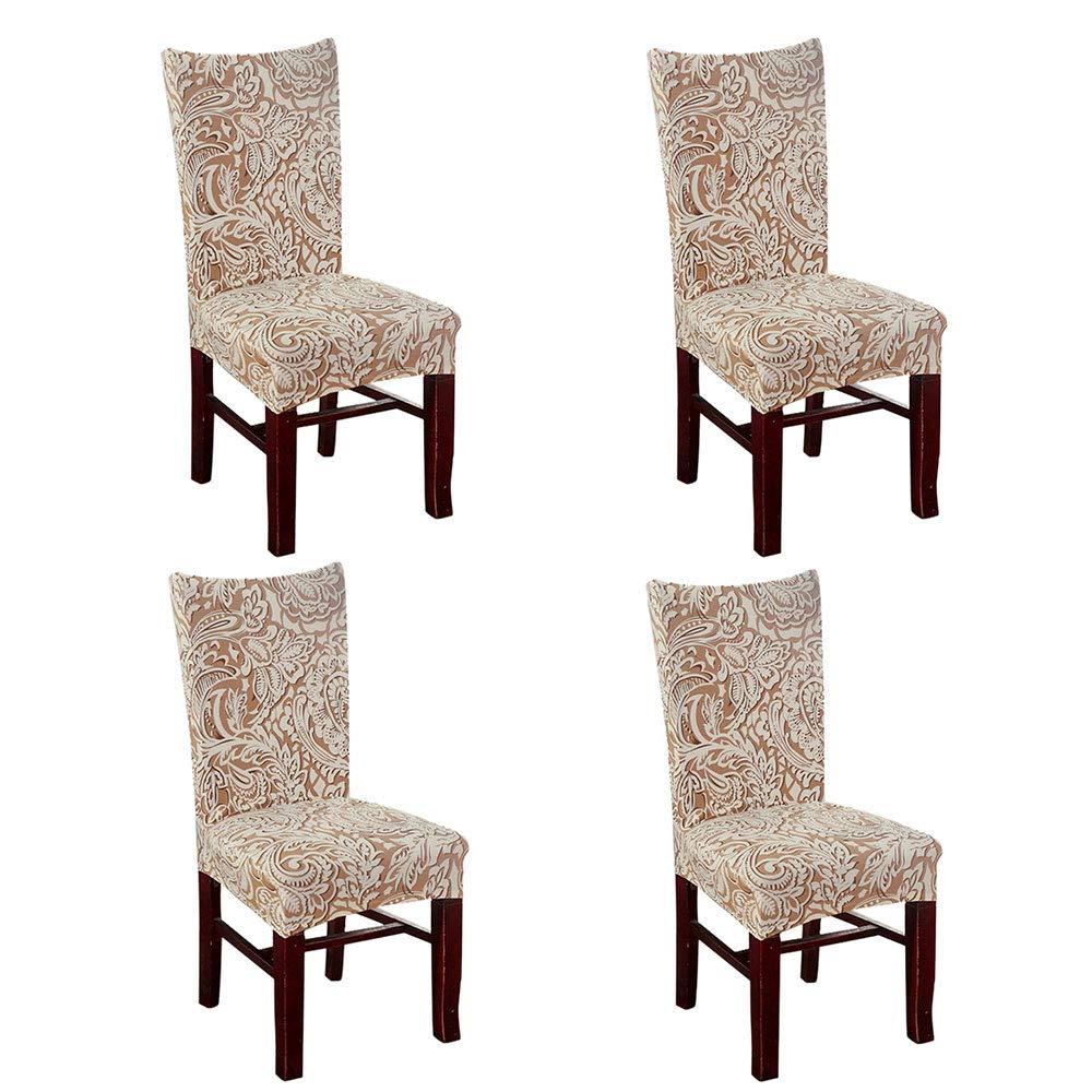 Fundas para sillas pack de 4 fundas sillas comedor fundas elásticas ...