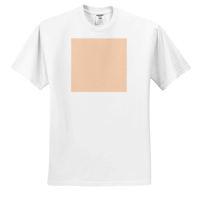 3dRose Kultjers Colors ts/_317410 Color Apricot Adult T-Shirt XL