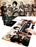 SPJ: One Piece Mouse Pad for Gaming Extra Large Keyboard Mat (35.4 X 15.7 X 0.1inches)
