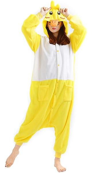 Unisex Animal Pijama Ropa de Dormir Cosplay Kigurumi Onesie Pato Amarillo Disfraz para Adulto Entre 1, 40 y 1, 87 m: Amazon.es: Ropa y accesorios