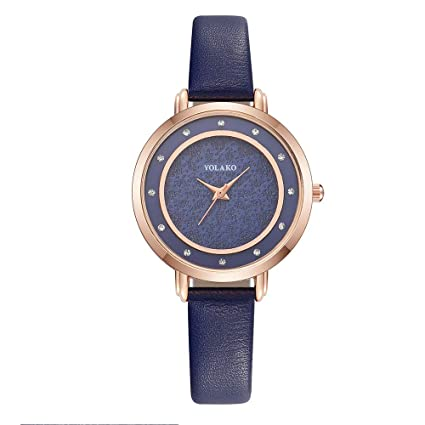 Iuhan Wrist Watch for Women Girls Holiday Deals, Womens Casual Quartz Leather Band Newv Strap