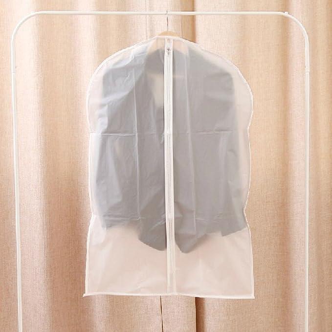 Nopea Kleiderschutzh/ülle Antidust Tasche Kleidersack Lagerung H/ängetasche Anzugsack Kleiderh/ülle Anzug Mantel mit Rei/ßverschluss Kleidung Transparent
