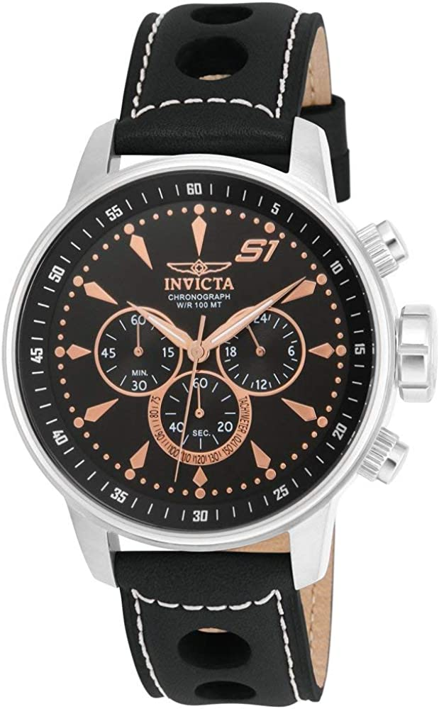 Invicta Men s 16012 S1 Rally Analog Display Japanese Quartz Black Watch