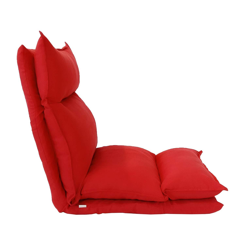 Metallo e Pelle Scamosciata Morbida - Art Poltrona Yoga Rossa Rebecca Mobili Seduta futon Riposo Salotto Veranda RE6199 Misure 70 x 56 x 70 cm HxLxP