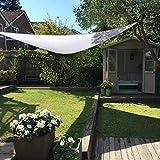 Clara Shade Sails Garden Sun Gazebo Pure White Waterproof Sun 98% UV Premium Canopy Awning Patio Outdoor Indoor DIY (Triangle 3.6m)