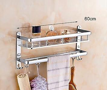 Lisabobo Bad Regale Badezimmer Regal Raum Aluminium Handtuchhalter