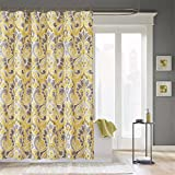 "Madison Park MP70-642 Capris Shower Curtain 72x72"" Yellow,72x72"""