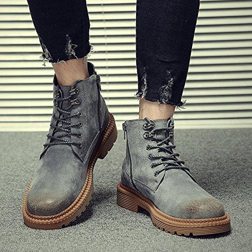 HL-PYL-Martin Stiefel hohe Stiefel Stiefel Fell Stiefel Schuhe 44 Grau Grau Grau 9c3ccc